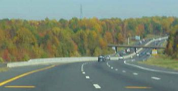 Fall color on the way to Charlotte